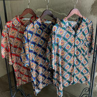 男女兼用レーヨンアロハシャツ/ダイヤ【T6RP53】