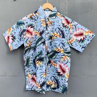 男女兼用アロハシャツ/ヘリコニア/Blue