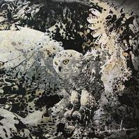 夜の森【絵画10号】