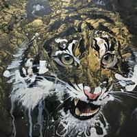 golden tiger【絵画665×243 】