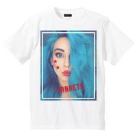 RARETE (ラルテ)  blue hair GIRL  Tシャツ ホワイト