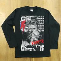 RARETE (ラルテ)  デビットボーイ コラージュ ブラック 長袖Tシャツ