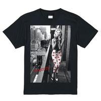 RARETE (ラルテ)   マリリンモンロー camera flour  Tシャツ ブラック