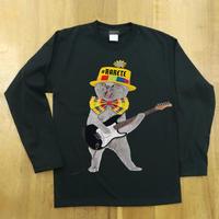 RARETE (ラルテ)  猫 ギター  ブラック  長袖Tシャツ