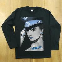 RARETE (ラルテ) Hepburn ブルー   ブラック  長袖Tシャツ