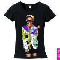 RARETE (ラルテ)   Miley カラフル ジャケット  Tシャツ  ブラック  星柄 star (レディース)