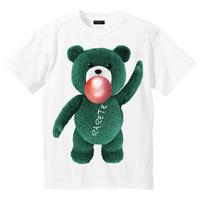 RARETE (ラルテ)   テディベア ガム  緑色  Tシャツ ホワイト