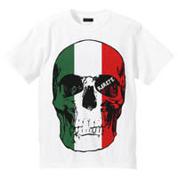 RARETE (ラルテ)   ドクロ スカル イタリア国旗   Tシャツ ホワイト