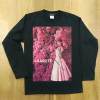 RARETE (ラルテ) Hepburn pink flower   ブラック  長袖Tシャツ