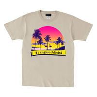 RARETE (ラルテ)    フラミンゴ 夕日 ビーチ  Tシャツ ストーン