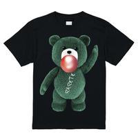 RARETE (ラルテ)   テディベア ガム  緑色  Tシャツ ブラック