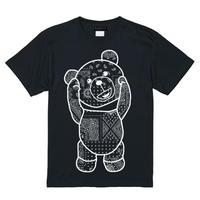 RARETE (ラルテ)   テディベア バンダナ ブラック  Tシャツ