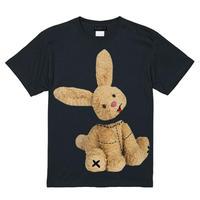 RARETE (ラルテ)  ウサギ も 首取れた!  ブラック  Tシャツ