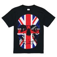 RARETE (ラルテ)   ドクロ スカル イギリス国旗   Tシャツ ブラック