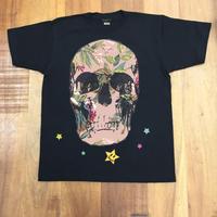 RARETE (ラルテ)   ドクロ スカル 花柄  Tシャツ  ブラック  星柄