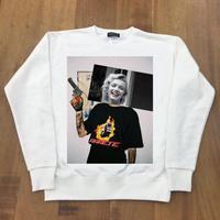 RARETE (ラルテ)  マリリンモンロー collage  Pistol スエット ホワイト(裏パイル)