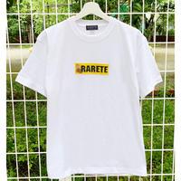RARETE (ラルテ) ボックスロゴ テディベア ホワイト  Tシャツ