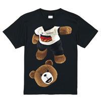 RARETE (ラルテ)   テディベア サッカー (茶色)  Tシャツ ブラック
