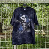 RARETE (ラルテ)    テディベア ガイコツ 鎖 (紺色)   Tシャツ タイダイ ブラック 【数量限定】