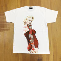 RARETE (ラルテ)   マリリンモンロー 赤 ドレス  タトゥー  Tシャツ ホワイト  星柄