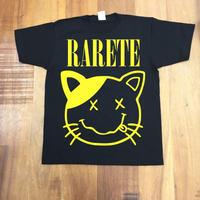 RARETE (ラルテ)   cat 猫 ニルヴァーナ  ブラック  Tシャツ 星柄 star