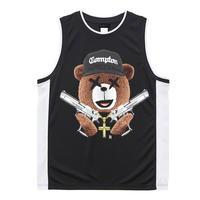 RARETE (ラルテ)  NWA テディベア  ブラック バスケットボールシャツ