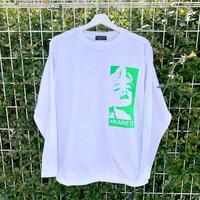 RARETE (ラルテ)  マリリンモンロー 蛍光 グリーン ホワイト  長袖Tシャツ