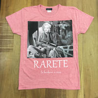 RARETE (ラルテ)  マリリン モンロー 兵士 ロゴ  Tシャツ ピンク  星柄 star