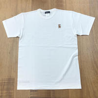 RARETE (ラルテ) テディベア 刺繍  あっかんべー  Tシャツ ナチュラル