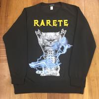 RARETE (ラルテ)  CAT イナズマ 猫 スエット ブラック 星柄 star