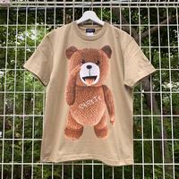 RARETE (ラルテ) テディベア あっかんベー!【茶色】  Tシャツ サンドカーキー