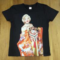 RARETE (ラルテ)  マリリン モンロー 着物 花魁 和装  Tシャツスミクロ  星柄 star