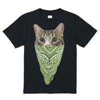 RARETE (ラルテ)   cat バンダナ ブラック  Tシャツ