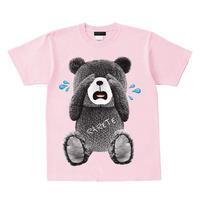 RARETE (ラルテ)  泣いちゃった! 【グレイ】 Tシャツ ライトピンク