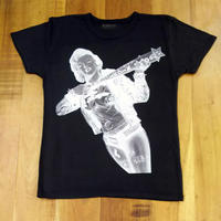 RARETE (ラルテ)  マリリンモンロー ハーレイ・クイン 反転  Tシャツ スミクロ  星柄 star