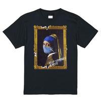 RARETE (ラルテ)  フェルメール マスク  Tシャツ ブラック