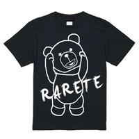 RARETE (ラルテ)  RARETE (ラルテ) 首取れた アウトライン  Tシャツ ブラック