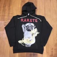 RARETE (ラルテ) DOG イナズマ 犬 Pag  パグ ファックパーカー ブラック 星柄 star