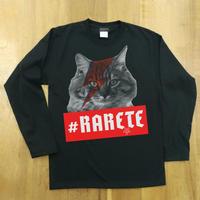RARETE (ラルテ)  cat 猫 デビットボーイ   ブラック  長袖Tシャツ