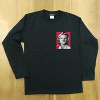 RARETE (ラルテ)  マリリンモンロー キス   バックプリント  ブラック  長袖Tシャツ