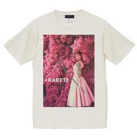 RARETE (ラルテ) Hepburn pink flower ホワイト (ピグメント加工)