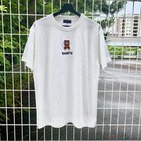 RARETE (ラルテ)  泣いちゃった 刺繍 Tシャツ ホワイト