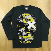 RARETE (ラルテ)  ドクロ 迷彩 イエロー ブラック  長袖Tシャツ