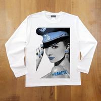RARETE (ラルテ) Hepburn ブルー   ホワイト  長袖Tシャツ