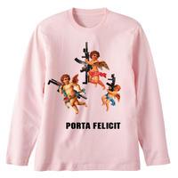 RARETE (ラルテ)  天使 gun  ライトピンク  長袖Tシャツ