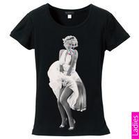 RARETE (ラルテ)   マリリンモンロー white ドレス キャンディー   Tシャツ ブラック  星柄 star (レディース)