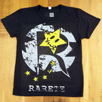 RARETE (ラルテ) ロゴ  Tシャツ スミクロ  星柄 star