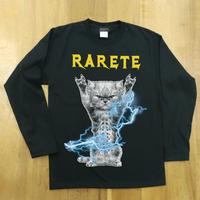 RARETE (ラルテ)  CAT イナズマ  猫  ブラック  長袖Tシャツ