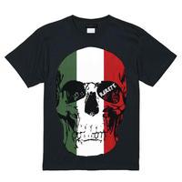 RARETE (ラルテ)   ドクロ スカル イタリア国旗   Tシャツ ブラック