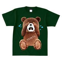 RARETE (ラルテ)  泣いちゃった! 【茶色】 Tシャツ フォレストグリーン